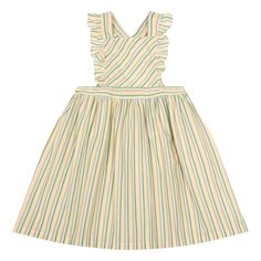 Nantes Striped Pinafore Dress-product