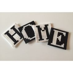 Home coasters hama beads by anneolse