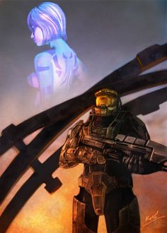 AssaultGodzilla collects Japanese Halo Fan Art - Part 2 Halo 3, Halo Game, Master Chief And Cortana, Cortana Halo, Tango, Memes, Good Books, Video Games, Anime