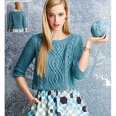BATEAU-NECK PULLOVER Vogue Knitting Fall 2014 #2 Design by Patty Lyons