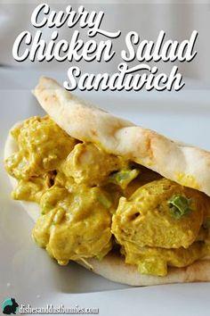 Curry Chicken Salad Sandwich from dishesanddustbunnies.com