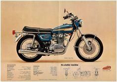 YAMAHA Brochure TX650 1973 GEN Sales Catalog Catalogue REPRO | eBay