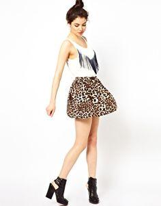 Oh My Love Leopard Skater Skirt
