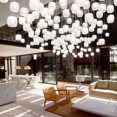 Flying Crystal cups, by Yellow Goat lighting