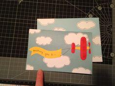 Birthday card, male, plane