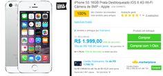 iPhone 5S 16GB Prata Desbloqueado IOS 8 4G Wi-Fi Câmera de 8MP << R$ 161919 >>