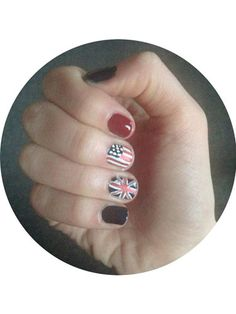 Hey, we've got nothing against showing our friends across the pond a little love, too! Erica's flag nail art would make the 1D boys proud.