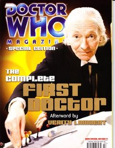 Dr Who Magazine Cover featuring the First Doctor!