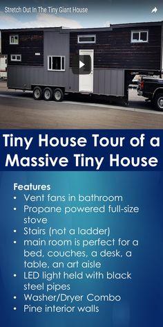 Tiny House Tour of a Massive Tiny House | Tiny Quality Homes
