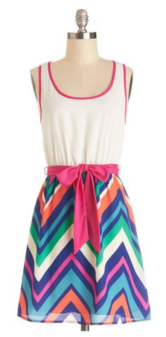 Cute chevron. A little more pink than I like, but good style.