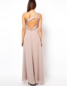 Lipsy VIP one strap nude maxi dress