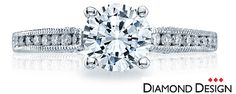 18k white gold engagement ring with 0.25ct tw dia and center round. 2785$ for ring mount. You choose the perfect center diamond to suit your budget. 3000RD5