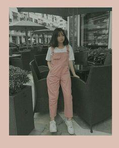 Korean Girl Fashion, Korean Fashion Trends, Korean Street Fashion, Ulzzang Fashion, Korea Fashion, Cute Casual Outfits, Pretty Outfits, Beautiful Outfits, Kawaii Fashion
