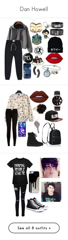 """Dan Howell"" by katanasandcrap ❤ liked on Polyvore featuring Reigning Champ, Kate Rowland, Kate Spade, Cristabelle, Lime Crime, Sweet Romance, New Look, Casetify, STELLA McCARTNEY and adidas"