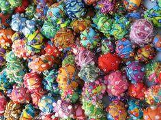 fabric beads....