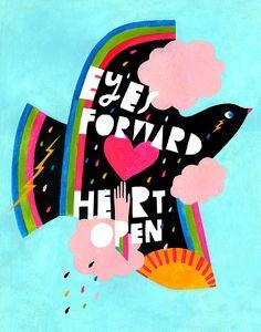 Eyes Forward Art Print by Lisa Congdon
