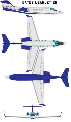 Image result for learjet 45 3 view blueprint pinterest the learjet 28 is an american eight to ten seat two crew and six to eight passengers twin engined high speed business jet intended to be the succes malvernweather Images