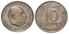 10 céntimos de Franco Foreign Coins, European History, Nostalgia, Best Memories, Retro, World, Madrid, Vintage, Seals