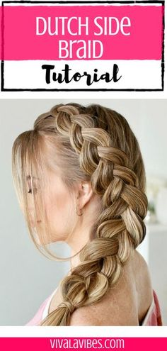 Dutch Side Braid Tutorial - - Need a new updo style? Check out this simple step by step tutorial to get that beautiful dutch side braid. Easy And Beautiful Hairstyles, Side Braid Hairstyles, Braided Hairstyles For Black Women, Braided Hairstyles For Wedding, Braided Hairstyles Tutorials, Easy Hairstyles For Long Hair, Braids For Long Hair, Short Hair, Easy Side Braid