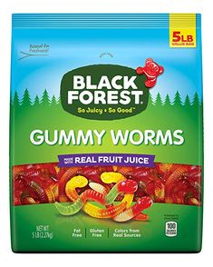 Black Forest Gummy Worms Candy, 5 Pound (Pack of 1): Amazon.com: Grocery & Gourmet Food Sushi Recipes, Gourmet Recipes, Peppa Pig, Candy Sushi, Healthy Candy, Organic Snacks, Vegan Candies, Fruit Roll Ups, Chewy Candy