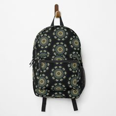 Vintage Fashion, Vintage Style, Green And Gold, Peacock, Fashion Backpack, Feather, Asian, Backpacks, Printed