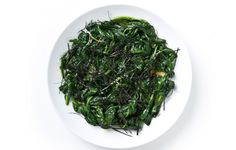"""""""The earthiness of the spinach is set off by the soy sauce and vinegar; it's my new favorite sauté."""" –Alfia Muzio, recipe developer"""