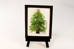 Original mini watercolor fine art with mini easel  by HammerToLace, $22.00
