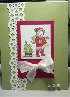 vintage christmas cards stampin up | Stampin' It Up with Olivia: Greeting Card Kid Christmas Card made with ...