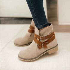 Fashion Buckle Strap Ankle Boots For Women | Daisy Dress for Less | Women's Dresses & Accessories