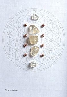 NOVEMBER BIRTHSTONE GRID  framed crystal grid  by CrystalGrids, $48.00