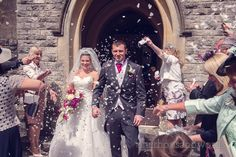 Confetti at Haven hotel wedding. Photography by one thousand words wedding photographers