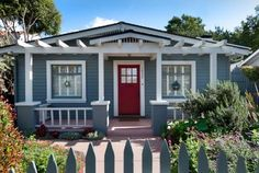 Exterior house colors, but with a dark navy blue door and garage door...