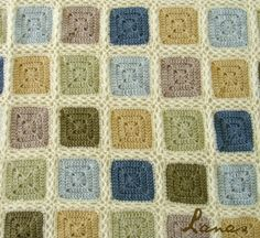 #Crochet squares blanket made with alpaca yarn for baby boy