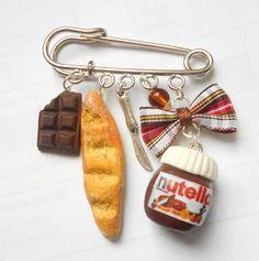 Nutella, chocolate bar, french bread