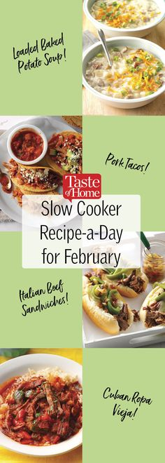 Slow Cooker Recipe-a-Day for February