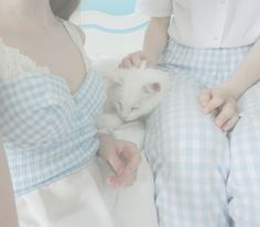 petitepasserine: hihi happy family, I love how we all match and sir edwards new pants are just so cool oh wow! ! ! ; o ; 1 cutie human + 1 cutie cat + 1 dork = v happy family <33 ; 7 ;