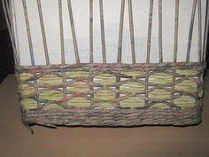 Návody - VZORY PLETENÍ :: Pletení z papíru Hanča Čápule Paper Basket, Outdoor Furniture, Outdoor Decor, Firewood, Weaving, Diy, Crafts, Home Decor, Paper Art