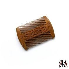 Beard Comb, Mustache Comb, Celtic, Sandalwood, MariyaArts