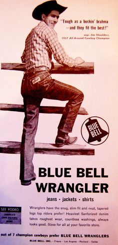 Vintage 1978 LEVI/'S Advertising Poster Go Rodeo Western Blue Jeans Art