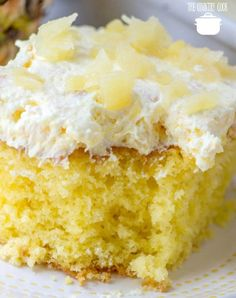 Piña Colada Poke Cake is made easy by using a butter cake mix poked with cream of coconut. It's non-alcoholic and topped with COOL WHIP and coconut! Pineapple Poke Cake, Pinapple Cake, Crushed Pineapple, Coconut Poke Cakes, Lemon And Coconut Cake, Poke Cake Recipes, Dessert Recipes, Desserts, Baking Recipes
