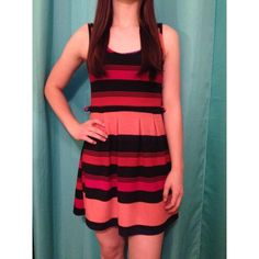 Fun striped dress Fun spring dress (just too small for me!). Gently used, no damage or wear. Open to offers! Rue 21 Dresses Mini