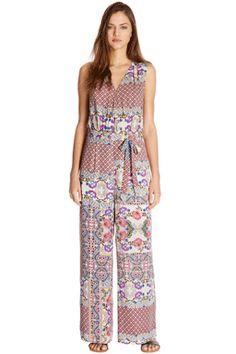 Pretty Floral Patchwork Jumpsuit