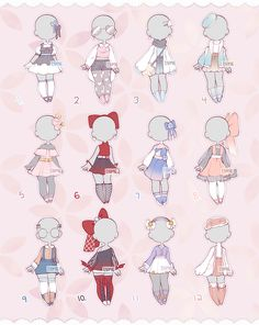 Set Price Outfits 5 (Closed) by Lyime on DeviantArt