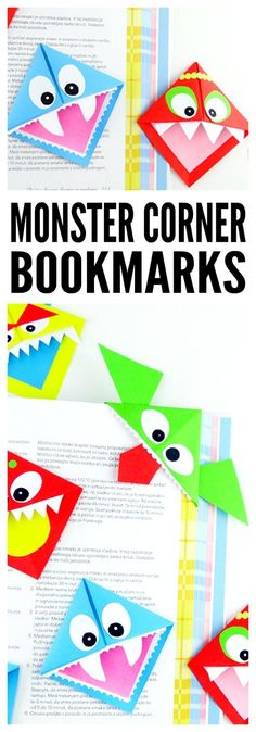 Monster Corner Bookmakrs Origami Step by Step Folding Instructions