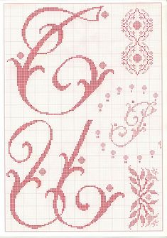 abc monogram E huge Gallery. Embroidery Alphabet, Embroidery Monogram, Embroidery Fonts, Embroidery Patterns, Stitch Patterns, Monogram Cross Stitch, Cross Stitch Alphabet, Monogram Alphabet, Monogram Fonts