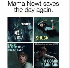 Don't worrie Min Min, mama Newt is coming