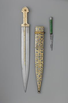 Dagger (Qama) Caucasian, century The Metropolitan Museum of Art Swords And Daggers, Knives And Swords, Dragons, Pretty Knives, Cool Swords, Dagger Knife, Medieval Weapons, Arm Armor, Fantasy Weapons