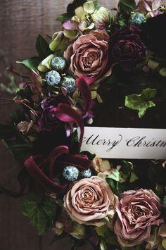 deuxR - Natural Flower - ドライフラワー教室・アレンジ販売・ワークショップ: バラとアイビーのリース & ヤドリギ入荷しました♪