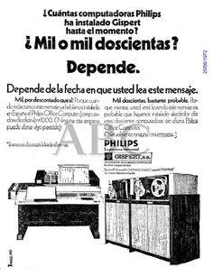 Computadoras Philips. Gispert. Año 1972.