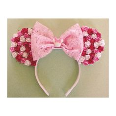 Pink Multi Floral mouse ears